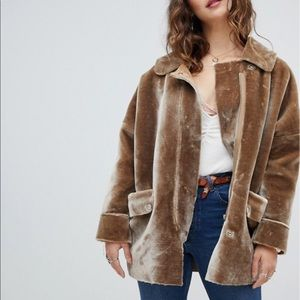 Free people Lindsay faux Sherpa oversized coat